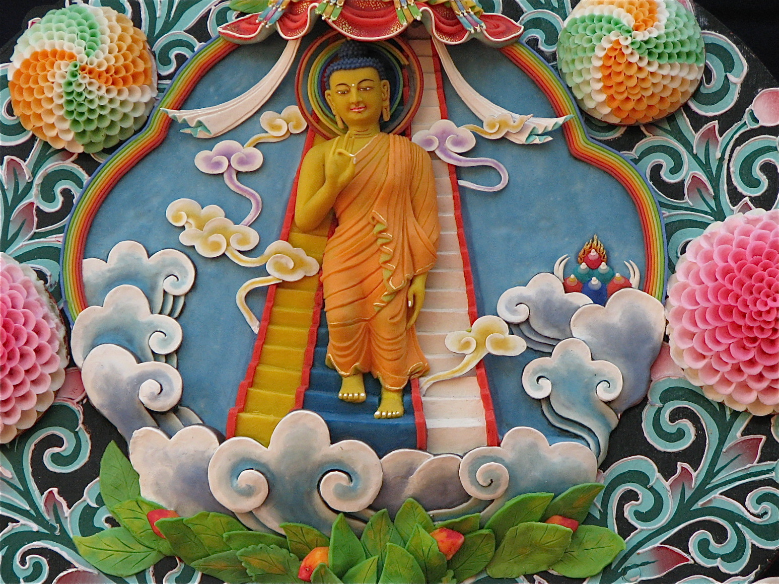 Descent of the Buddha from heaven