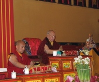 KTD is very lucky to have: Khenpo Karthar Rinpoche (r) and Khenpo Tenkyong (l).